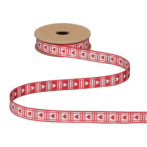 Buy East of India Hearts Ribbon, 3m Online at johnlewis.com
