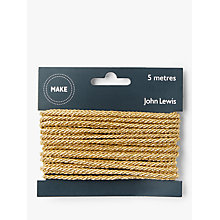 Buy John Lewis Cord, Gold, 5m Online at johnlewis.com