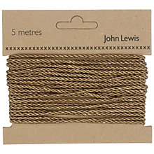 Buy John Lewis 3mm Twisted Cord, 5m Online at johnlewis.com