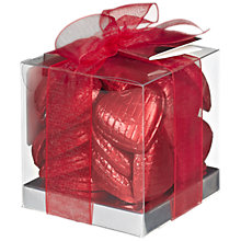 Buy Ambassadors of London Swiss Chocolate Hearts, Red, 150g Online at johnlewis.com