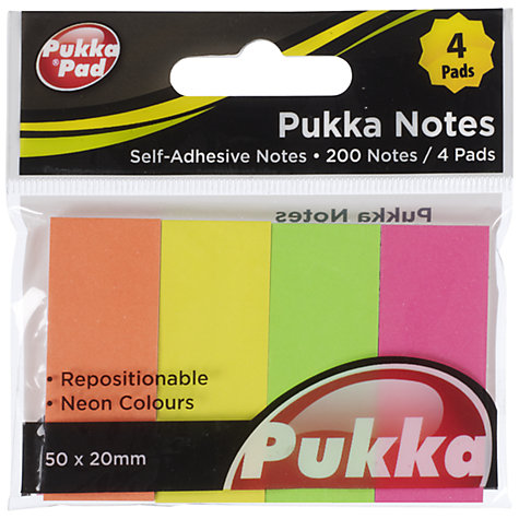 Buy Pukka Pads Coloured Page Markers, Pack Of 4 Online at johnlewis.com