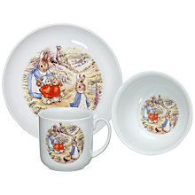 Buy Beatrix Potter Peter Rabbit China Set, 3-Piece Online at johnlewis.com