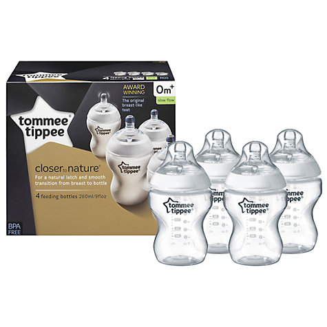 Buy Tommee Tippee Feeding Bottles, Pack of 4, 260ml Online at johnlewis.com
