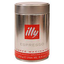 Buy Illy Ground Espresso Coffee, 250G Online at johnlewis.com