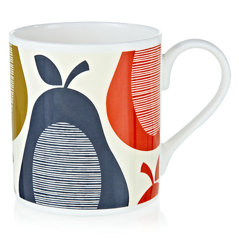 Buy Orla Kiely Pear Stripe Mug, Slate Online at johnlewis.com