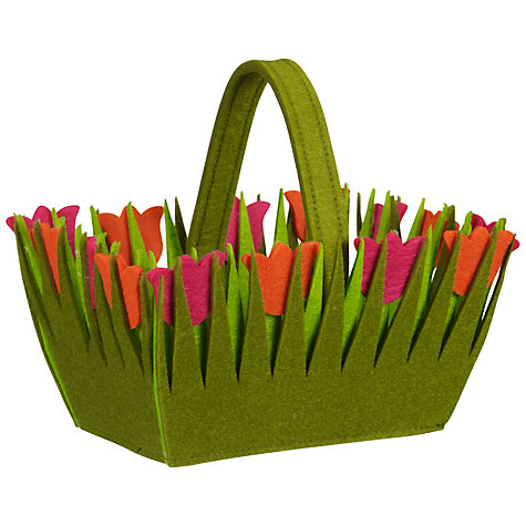 Buy John Lewis Tulip Basket, Pink & Orange Online at johnlewis.com