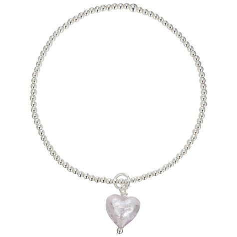 Buy Martick Beaded Ball with Silver Murano Glass Heart Bracelet Online at johnlewis.com