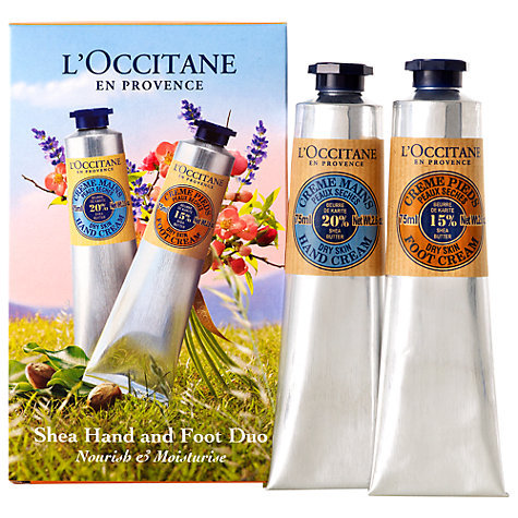 Buy L'Occitane Shea Butter Hand and Foot Duo, 2 x 75ml Online at johnlewis.com