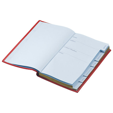 Buy Leathersmith Of London Places To Remember Leather Notebook, Red Online at johnlewis.com