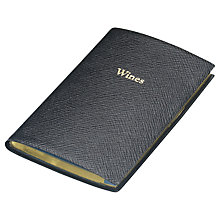 Buy Leathersmith Of London Wines Leather Notebook, Black Online at johnlewis.com