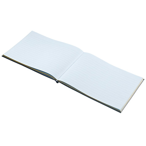 Buy Leathersmith Of London Chelsea Leather Guest Book, Black Online at johnlewis.com