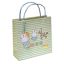 Buy Miffy & Zoo Friends Gift Bag, Medium Online at johnlewis.com