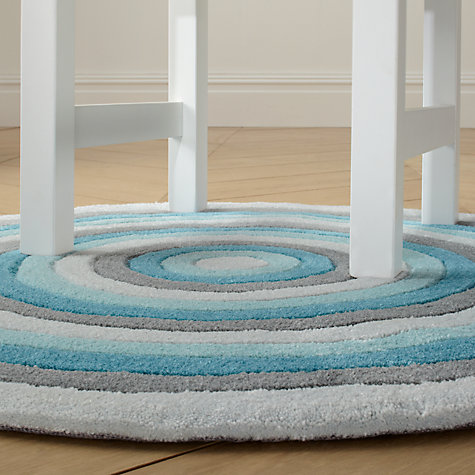 Buy little home at John Lewis Alfie Round Rug, Blue Multi, Dia. 90cm Online at johnlewis.com