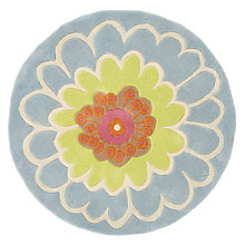 Buy little home at John Lewis Amelie Round Rug, Blue Multi, Dia. 90cm Online at johnlewis.com