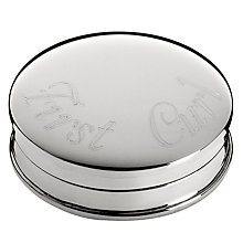 Buy Carrs Sterling Silver First Curl Box Online at johnlewis.com