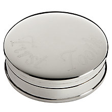 Buy Carrs Sterling Silver First Tooth Box Online at johnlewis.com