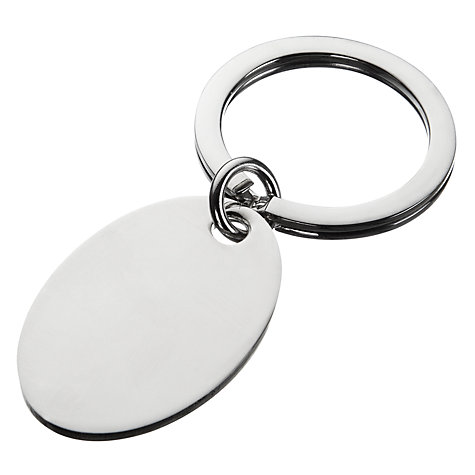 Buy Carrs Silver Oval Keyring Online at johnlewis.com