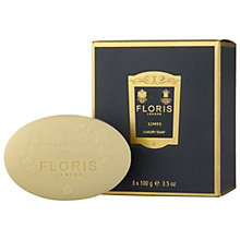 Buy Floris Limes Luxury Soap, 3 x 100g Online at johnlewis.com