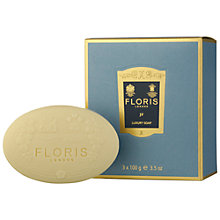 Buy Floris JF Luxury Soap, 3 x 100g Online at johnlewis.com