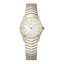 Buy Ebel EBECBTWT0020 Women's Classic White Mother of Pearl Diamond Set Steel Bracelet Watch Online at johnlewis.com