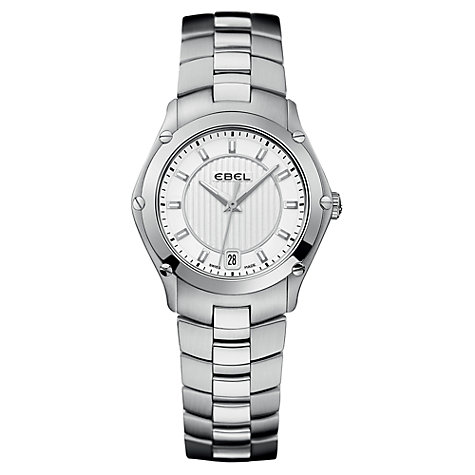 Buy Ebel EBECBTWT0015 Women's Classic Sport White Dial Steel Bracelet Watch Online at johnlewis.com