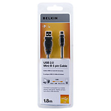 Buy Belkin Mini USB 5 Pin Cable 1.8M Online at johnlewis.com