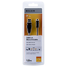 Buy Belkin F3U151CP USB 2.0 to Micro USB, 1.8 metre Online at johnlewis.com