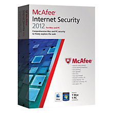 Buy McAfee Dual Protection 2012, Mac & Windows - 1 User Pack Online at johnlewis.com