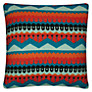Donna Wilson Hofdi Cushion, Red / Orange / Teal