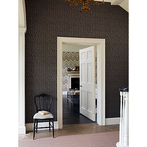 Buy Sanderson Cherry Hills Wallpaper, Charcoal, 211096 Online at johnlewis.com