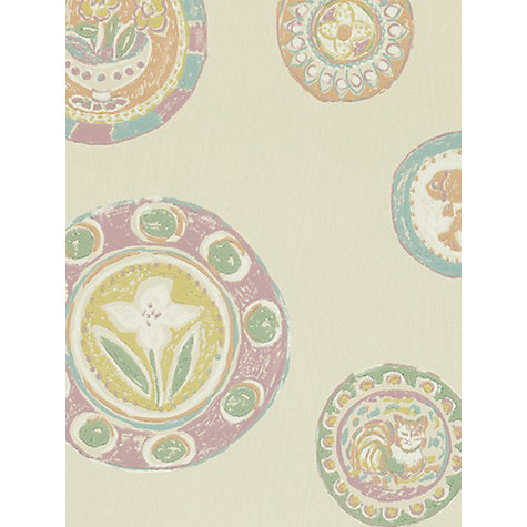 Buy Sanderson Clarice Wallpaper, Mauve / Plaster, 211108 Online at johnlewis.com
