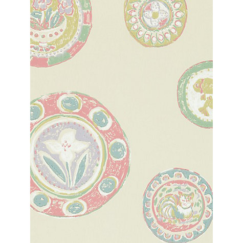Buy Sanderson Clarice Wallpaper, Rose / Aqua, 211109 Online at johnlewis.com