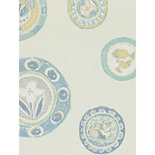 Buy Sanderson Clarice Wallpaper, Sky / Cream, 211107 Online at johnlewis.com
