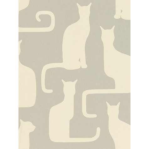 Buy Sanderson Omega Cats Wallpaper, Grey / Ivory, 211066 Online at johnlewis.com