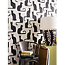 Buy Sanderson Omega Cats Wallpaper, Ivory / Black, 211065 Online at johnlewis.com