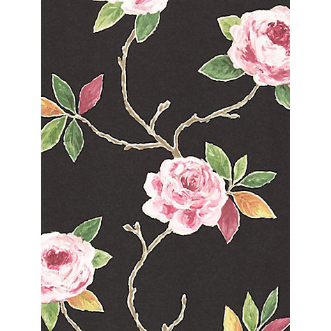 Buy Sanderson Ottoline Wallpaper, Charcoal / Rose, 211068 Online at johnlewis.com