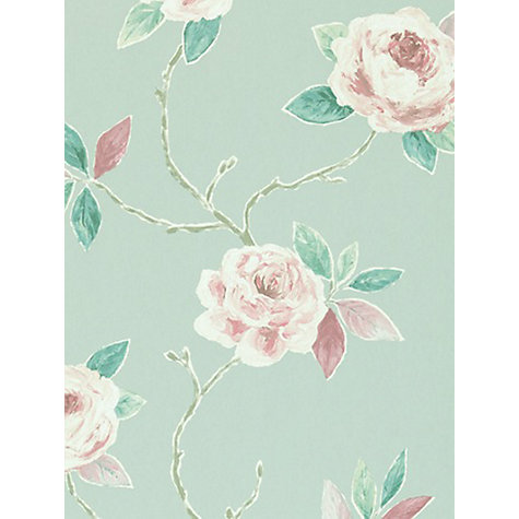 Buy Sanderson Ottoline Wallpaper, Fuchsia / Teal, 211071 Online at johnlewis.com