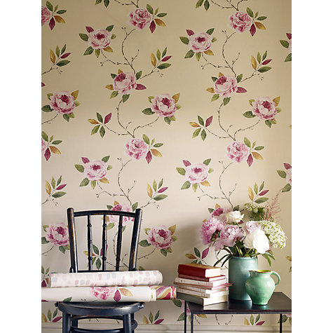 Buy Sanderson Ottoline Wallpaper, Rose / Moss, 211072 Online at johnlewis.com