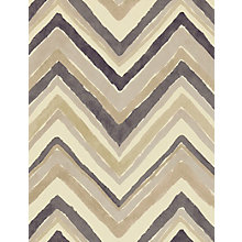 Buy Sanderson Zigzag Wallpaper, Charcoal / Ochre, 211075 Online at johnlewis.com