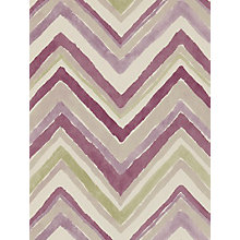 Buy Sanderson Zigzag Wallpaper, Damson / Stone, 211077 Online at johnlewis.com