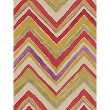 Buy Sanderson Zigzag Wallpaper, Red / Purple, 211073 Online at johnlewis.com