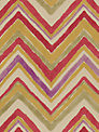 Sanderson Zigzag Wallpaper, Red / Purple, 211073