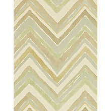 Buy Sanderson Zigzag Wallpaper, Silver / Natural, 211074 Online at johnlewis.com