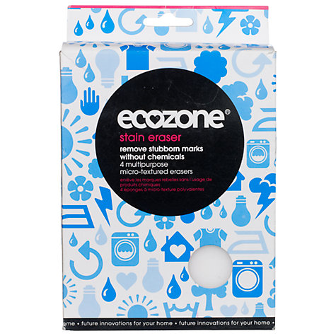 Buy Ecozone Non-Toxic Multi-Purpose Stain Erasers, Pack of 4 Online at johnlewis.com