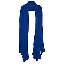 Buy Chesca Flounce Trim Crinkle Shawl, Sapphire Online at johnlewis.com