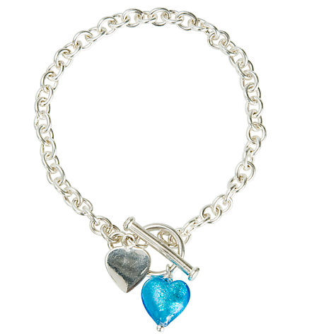 Buy Martick Turquoise Murano Heart Bracelet Online at johnlewis.com