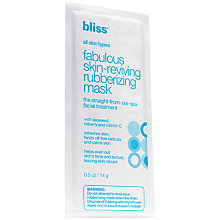 Buy Bliss Fabulous Skin Reviving Rubberising Mask Online at johnlewis.com
