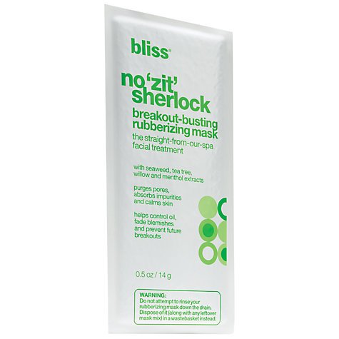 Buy Bliss No 'Zit' Sherlock Breakout Busting Mask, Pack of 6 Online at johnlewis.com