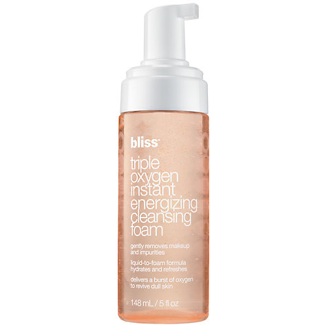 Buy Bliss Triple Oxygen Energing Cleansing Foam, 148ml Online at johnlewis.com