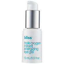 Buy Bliss Triple Oxygen Instant Energizing Eye Gel, 15ml Online at johnlewis.com